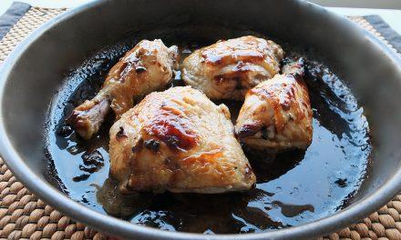 Κοτόπουλο μαριναρισμένο με μέλι και μουστάρδα