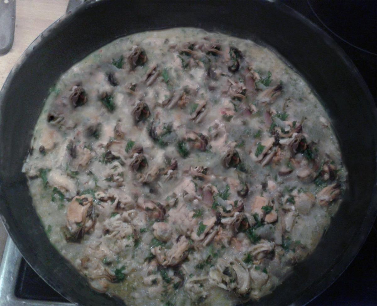 Μύδια με Σπανάκι και Ρύζι